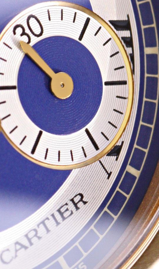 Foto 3, Uhr Cartier Santos Ronde Galbee Chronograph 18K Geprüft, U1195