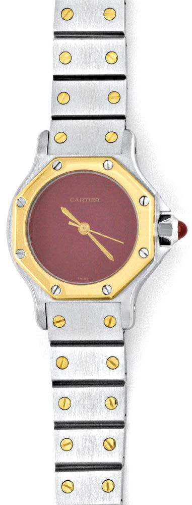 Foto 2, Cartier Santos Ronde 8 Eckig Damen Automatik STG Topuhr, U1197