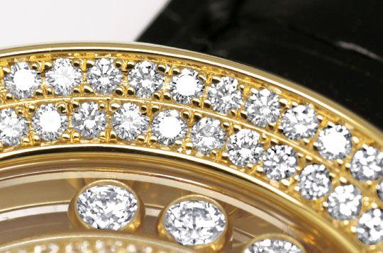 Foto 4, Damenuhr Chopard Happy Diamonds 201 Brillanten Perlmutt, U1199