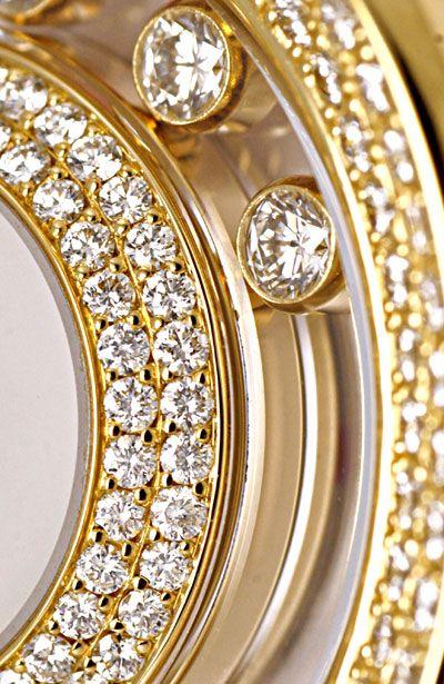 Foto 5, Damenuhr Chopard Happy Diamonds 201 Brillanten Perlmutt, U1199
