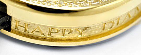 Foto 6, Damenuhr Chopard Happy Diamonds 201 Brillanten Perlmutt, U1199