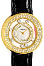 Damenuhr Chopard Happy Diamonds 201 Brillanten Perlmutt