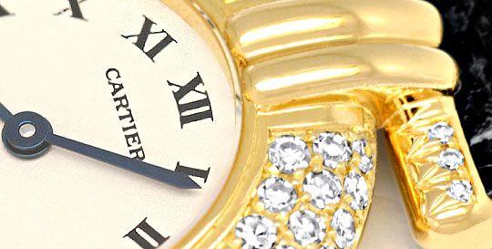Foto 3, Cartier Colisee Diamantgehäuse Damenarmbanduhr 18K Gold, U1203