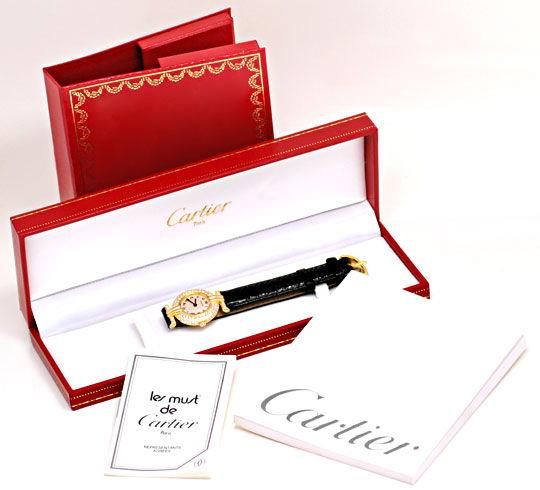 Foto 6, Cartier Colisee Diamantgehäuse Damenarmbanduhr 18K Gold, U1203
