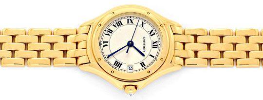 Foto 1, Panthere Cougar.de Cartier, Damen Uhr Gelb Gold Geprüft, U1205