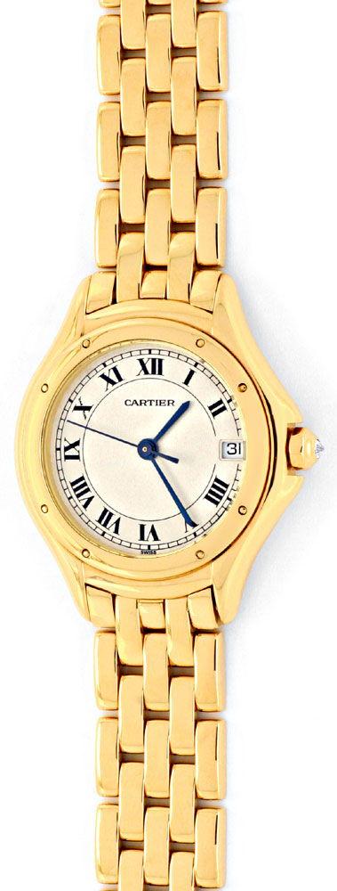 Foto 2, Panthere Cougar.de Cartier, Damen Uhr Gelb Gold Geprüft, U1205