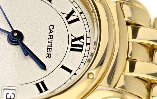 Foto 3, Panthere Cougar.de Cartier, Damen Uhr Gelb Gold Geprüft, U1205