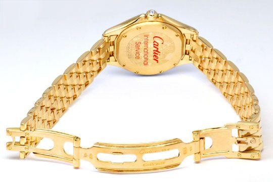 Foto 4, Panthere Cougar.de Cartier, Damen Uhr Gelb Gold Geprüft, U1205