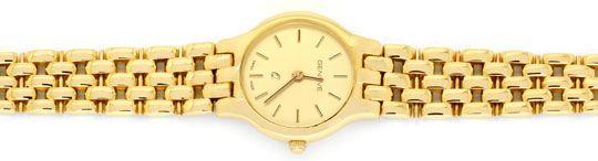Foto 1, Damenarmbanduhr massiv Gelbgold Goldsportarmband Topuhr, U1206