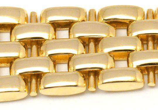 Foto 4, Damenarmbanduhr massiv Gelbgold Goldsportarmband Topuhr, U1206