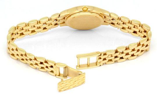 Foto 5, Damenarmbanduhr massiv Gelbgold Goldsportarmband Topuhr, U1206