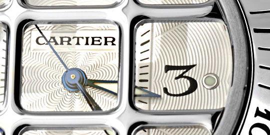 Foto 3, Cartier Pasha Gitter 38mm Automatik, Stahl Kroko Topuhr, U1207