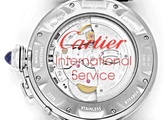 Foto 4, Cartier Pasha Gitter 38mm Automatik, Stahl Kroko Topuhr, U1207