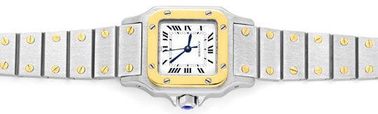 Foto 1, Santos.de Cartier Damen Uhr Automatik Stahl Gold Topuhr, U1209