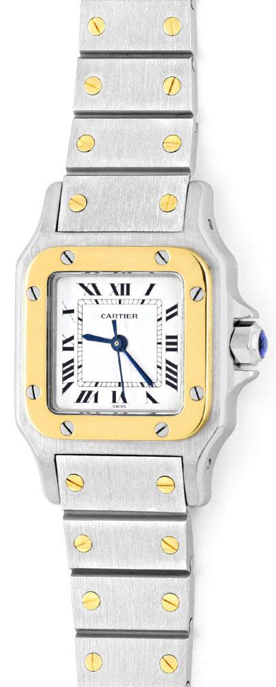 Foto 2, Santos.de Cartier Damen Uhr Automatik Stahl Gold Topuhr, U1209