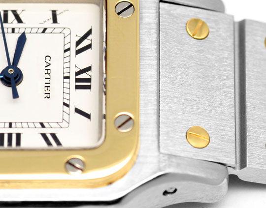Foto 3, Santos.de Cartier Damen Uhr Automatik Stahl Gold Topuhr, U1209