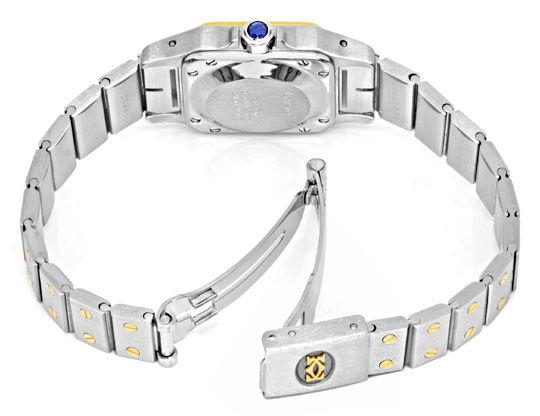 Foto 4, Santos.de Cartier Damen Uhr Automatik Stahl Gold Topuhr, U1209