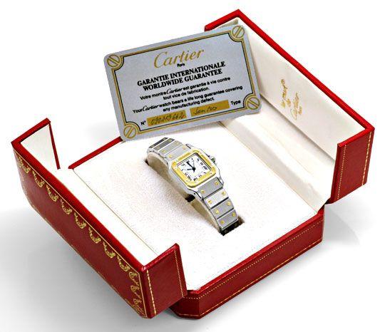 Foto 5, Santos.de Cartier Damen Uhr Automatik Stahl Gold Topuhr, U1209