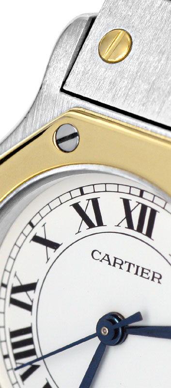 Foto 3, Santos.de Cartier Automatik, Damenuhr Stahl Gold Topuhr, U1211