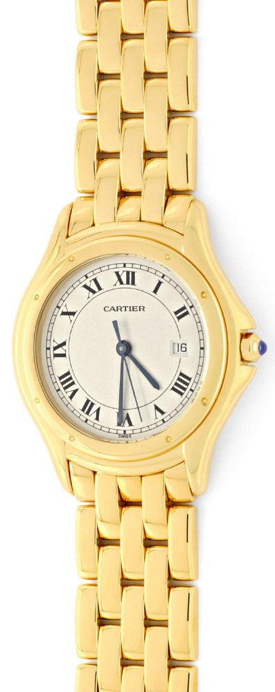 Foto 2, Panthere Cougar.de Cartier Herren Uhr Gelb Gold Geprüft, U1216