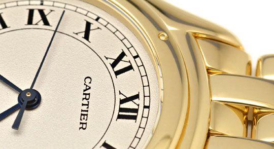 Foto 3, Panthere Cougar.de Cartier Herren Uhr Gelb Gold Geprüft, U1216