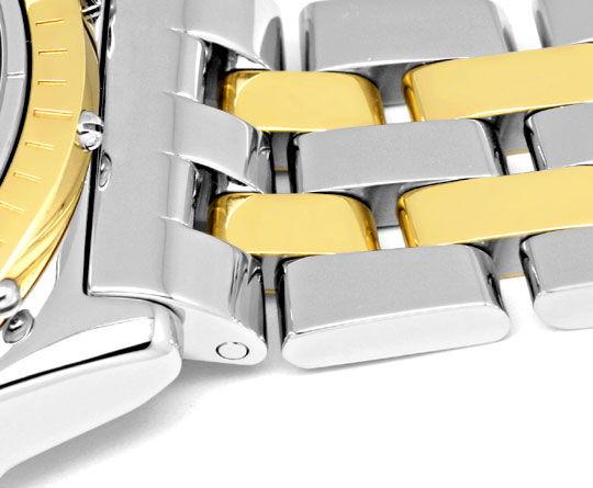 Foto 4, Breitling Gold Lünette Windrider Chronomat Pilotarmband, U1219