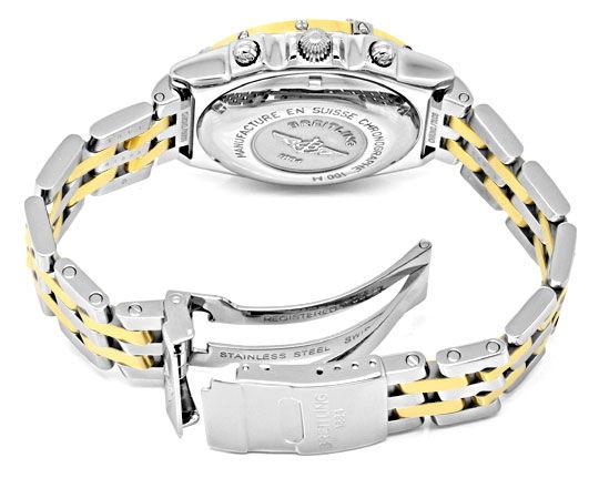 Foto 5, Breitling Gold Lünette Windrider Chronomat Pilotarmband, U1219