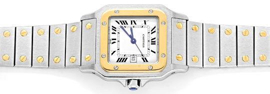 Foto 1, Santos.de Cartier Herren Uhr Stahlgold Automatik Topuhr, U1220