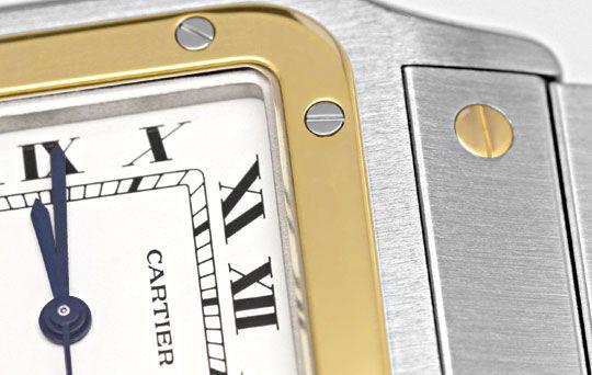 Foto 3, Santos.de Cartier Herren Uhr Stahlgold Automatik Topuhr, U1220