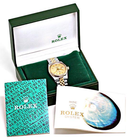 Foto 6, Rolex Datejust Oyster Perpetual Herren Stahlgold Topuhr, U1223