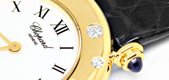 Foto 3, Chopard Damen Uhr Gelbgold Diamanten Safire Topuhr Neuz, U1227