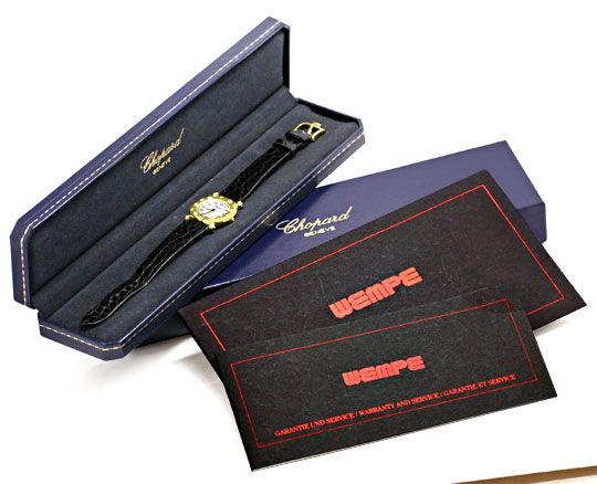 Foto 5, Chopard Damen Uhr Gelbgold Diamanten Safire Topuhr Neuz, U1227