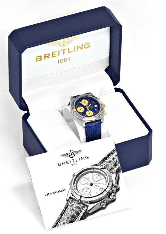 Foto 6, Breitling Uhr Chronomat Windrider 1884 Stahlgold Topuhr, U1228