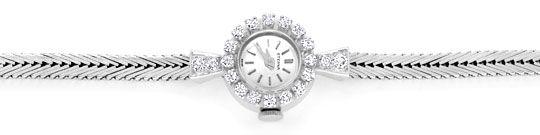 Foto 1, Eterna Diamant Damen Armbanduhr 0,68ct Weissgold Topuhr, U1232