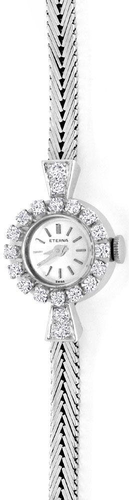 Foto 2, Eterna Diamant Damen Armbanduhr 0,68ct Weissgold Topuhr, U1232