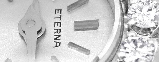 Foto 3, Eterna Diamant Damen Armbanduhr 0,68ct Weissgold Topuhr, U1232
