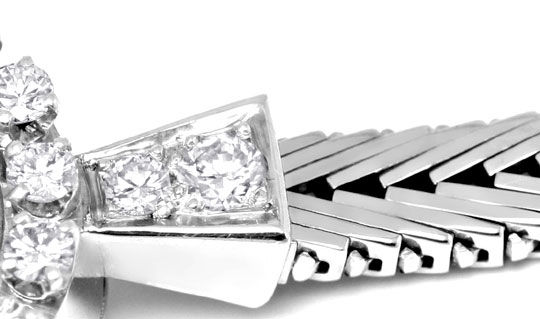 Foto 4, Eterna Diamant Damen Armbanduhr 0,68ct Weissgold Topuhr, U1232