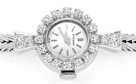 Foto 5, Eterna Diamant Damen Armbanduhr 0,68ct Weissgold Topuhr, U1232