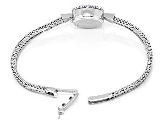 Foto 6, Eterna Diamant Damen Armbanduhr 0,68ct Weissgold Topuhr, U1232