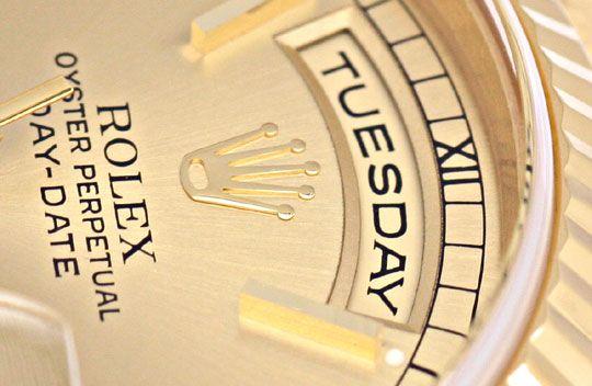 Foto 3, Rolex Daydate Automatik Day Date Gold Präsident Geprüft, U1233