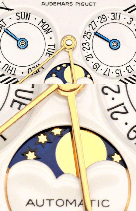 Foto 3, Audemars Piguet Kalendarium Datum Tag Mondphase Geprüft, U1235