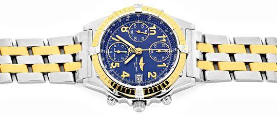 Foto 1, Breitling Windrider Chronomat Pilot Gold Lünette Topuhr, U1242