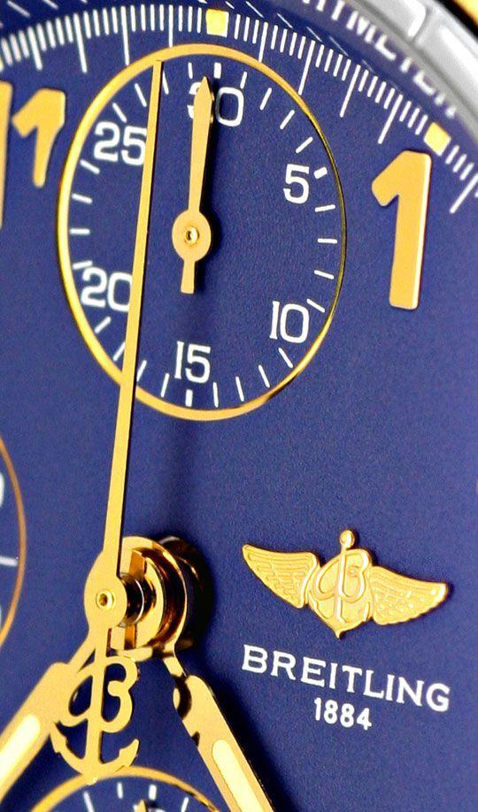 Foto 3, Breitling Windrider Chronomat Pilot Gold Lünette Topuhr, U1242