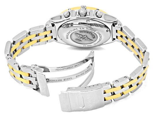 Foto 5, Breitling Windrider Chronomat Pilot Gold Lünette Topuhr, U1242