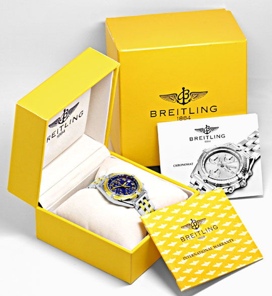 Foto 6, Breitling Windrider Chronomat Pilot Gold Lünette Topuhr, U1242