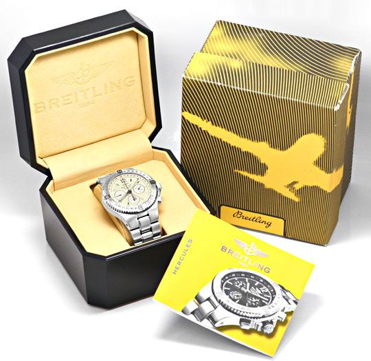 Foto 6, Breitling Herkules Chronograph Chronometer Stahl Topuhr, U1243