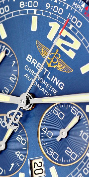 Foto 3, Breitling B2 Professional Fighterband Fliegeruhr Topuhr, U1244