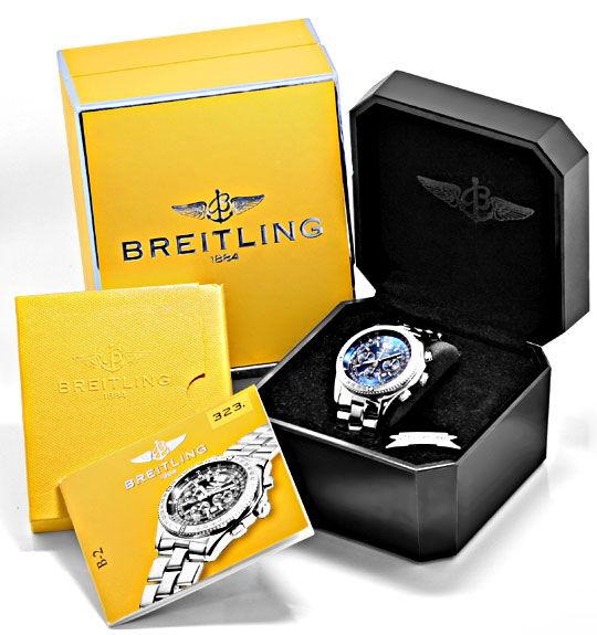 Foto 6, Breitling B2 Professional Fighterband Fliegeruhr Topuhr, U1244