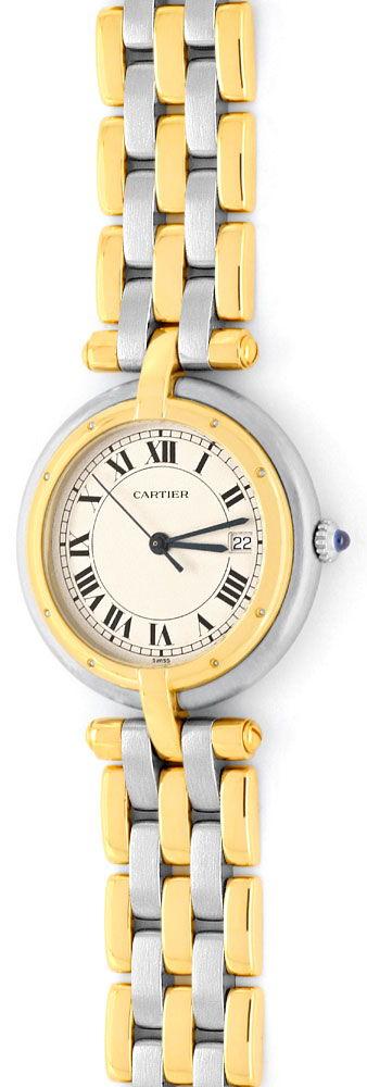 Foto 2, Panthere Vendome.de Cartier Herren 3Goldstreifen Topuhr, U1252