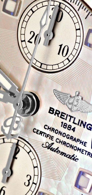 Foto 3, Breitling Chrono Cockpit Perlmutt Diamantlünette Topuhr, U1255